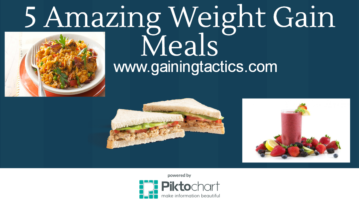 5 Amazing Weight Gain Meals - Gaining Tactics