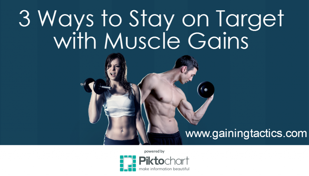 3 Ways to Stay on Target with Muscle Gains