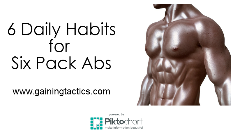 6 Daily Habits for 6 Pack Abs