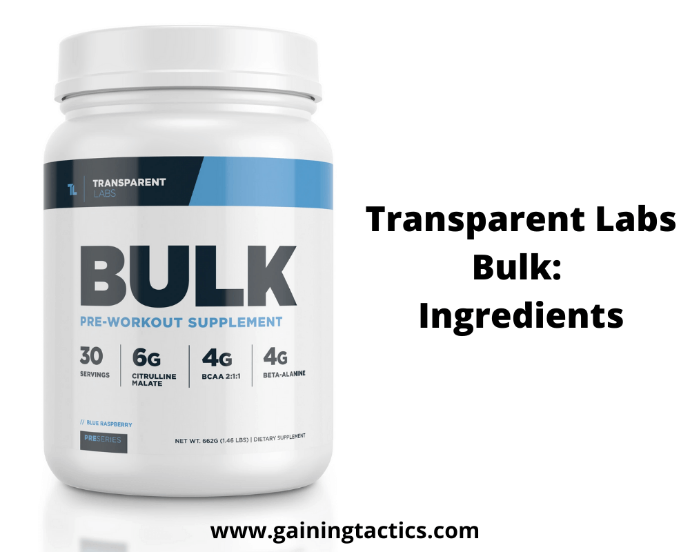 transparent labs bulk review