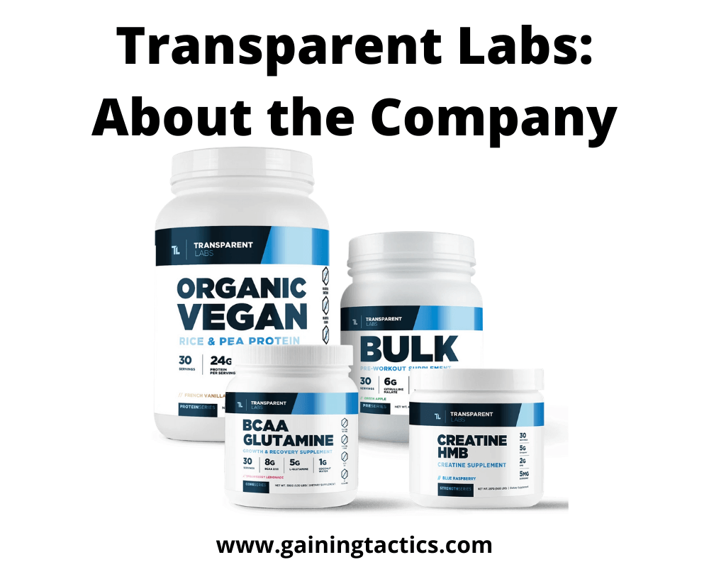 transparent labs company review