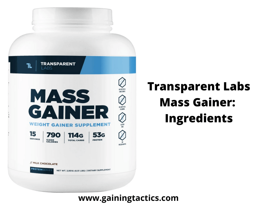 transparent labs mass gainer review