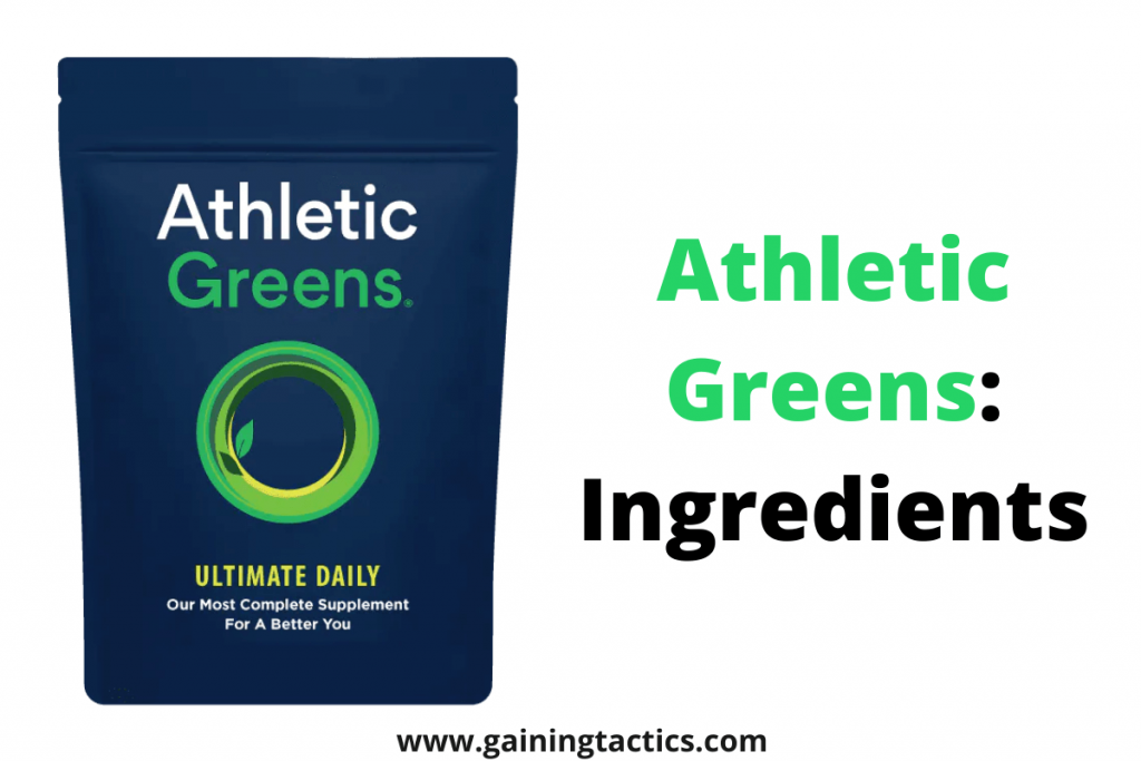 athletic greens ingredients