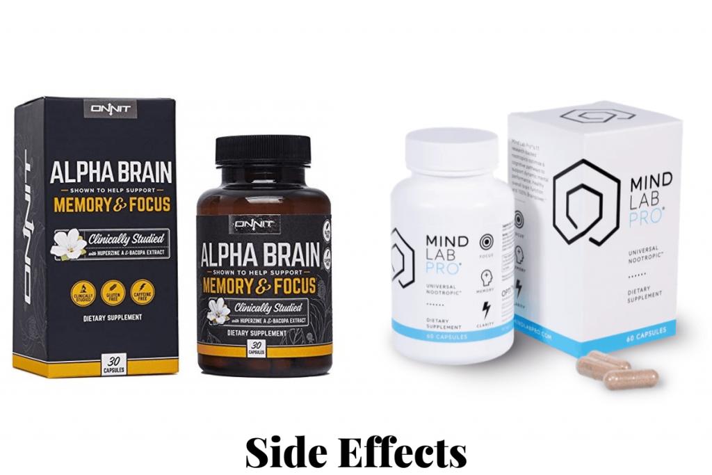 mind lab pro vs alpha brain side effects